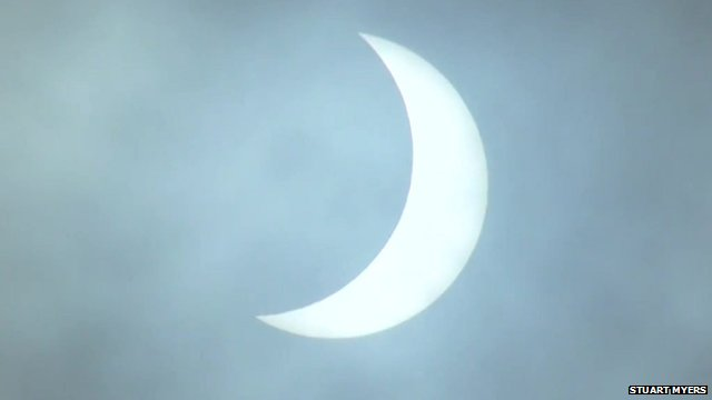 VIDEO: Solar eclipse over the Isle of Man