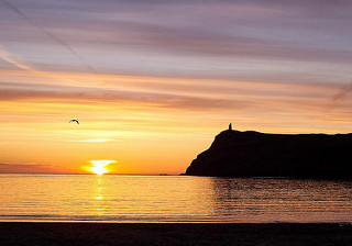 Sunset at Port Erin