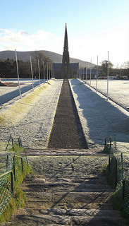 Tynwald church in the frost